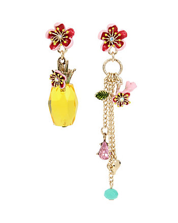 TROPICAL PUNCH PINEAPPLE MISMATCH EARRINGS