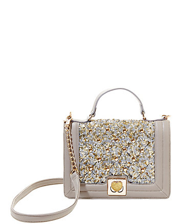 TUFT LOVE TOP HANDLE SHOULDER BAG
