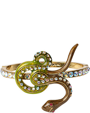 TURQS AND CAICOS SNAKE HINGED BANGLE