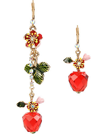 TUTTI FRUTTI APPLE MISMATCH EARRINGS