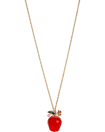 TUTTI FRUTTI APPLE PENDANT LONG NECKLACE