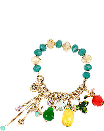 TUTTI FRUTTI PINEAPPLE HALF STRETCH BRACELET