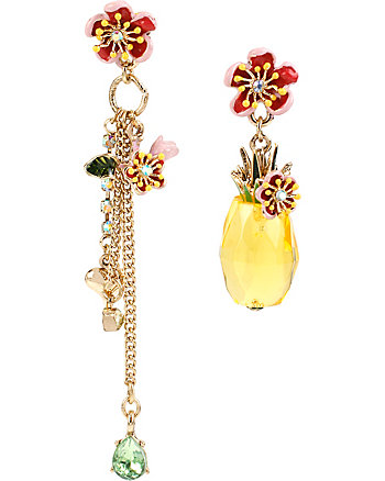 TUTTI FRUTTI PINEAPPLE MISMATCH EARRINGS