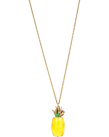 TUTTI FRUTTI PINEAPPLE PENDANT LONG NECKLACE