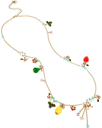 TUTTI FRUTTI SHAKEY MULTI CHARM LONG NECKLACE
