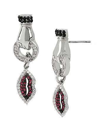 VDAY DELICATES HAND LIP EARRINGS