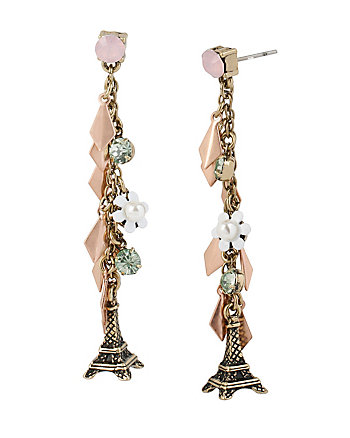 WANDERLUST EIFFEL TOWER LINEAR EARRINGS