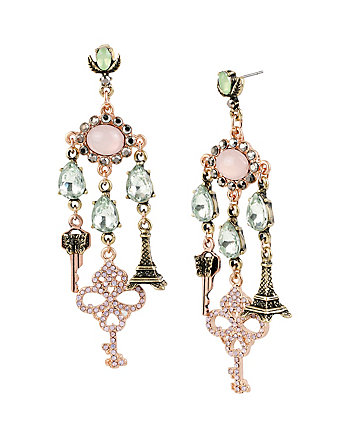 WANDERLUST KEY CHANDELIER EARRINGS