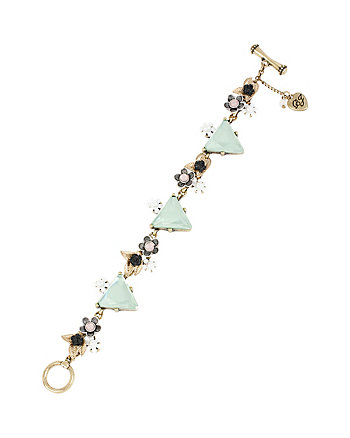 WANDERLUST MINT TRIANGLE FLOWER BRACELET