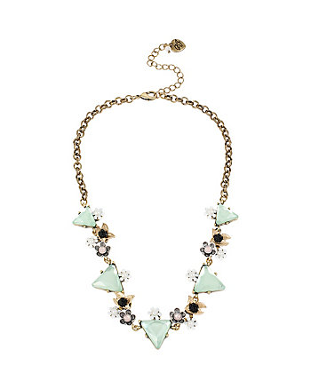 WANDERLUST MINT TRIANGLE FLOWER NECKLACE