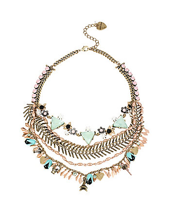 WANDERLUST MULTI CHAIN FRONTAL NECKLACE