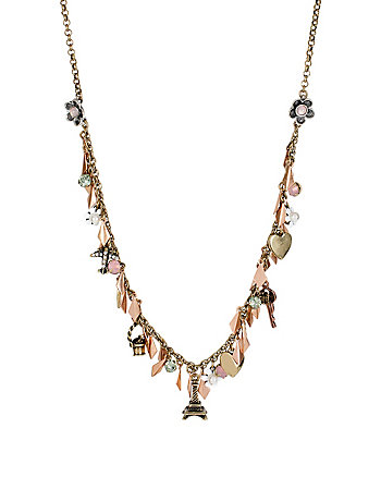 WANDERLUST MULTI MINI CHARM NECKLACE
