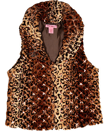 WIDE COLLAR LEOPARD VEST