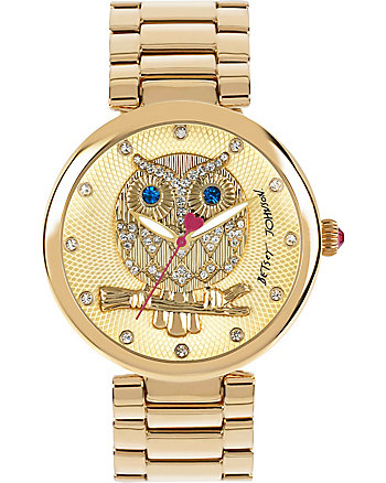 WISE GUY OWL FACE GOLD WATCH