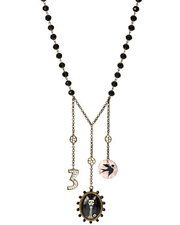 WONDERLAND THREES A CHARM NECKLACE