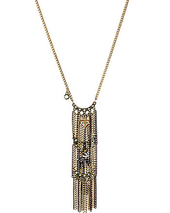 WOODLAND CRITTER FRINGE NECKLACE