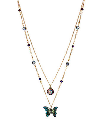 YOU GIVE ME BUTTERFLIES 3 ROW NECKLACE