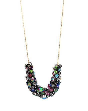 YOU GIVE ME BUTTERFLIES CLUSTER NECKLACE