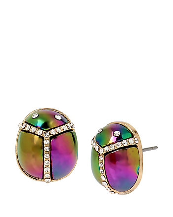 YOU GIVE ME BUTTERFLIES SCARAB STUDS