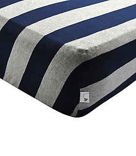 Bold Stripe Fitted Crib Sheet