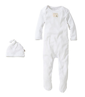 Bee Essentials Footie Coverall & Knot Top Hat Set