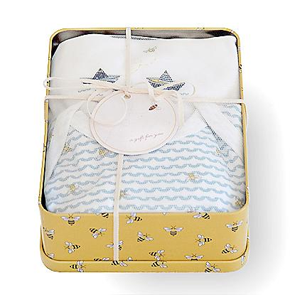 Bee By the Sea Gift Tin: Color - Cloud
