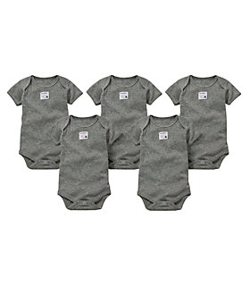 Bee Essentials Short Sleeve Bodysuit 5 Pack