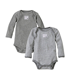 Bee Essentials Set of 2 Long Sleeve Bodysuits