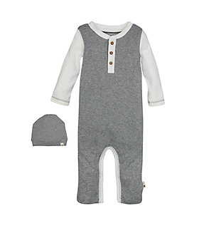 Henley Coverall & Hat Set