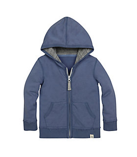 French Terry Zip Hoodie LY24271-BLC-12M