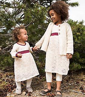 Baby Organic Cotton Crochet Skirt Dress