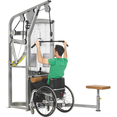 Total access lat pulldown disabled accessible fitness