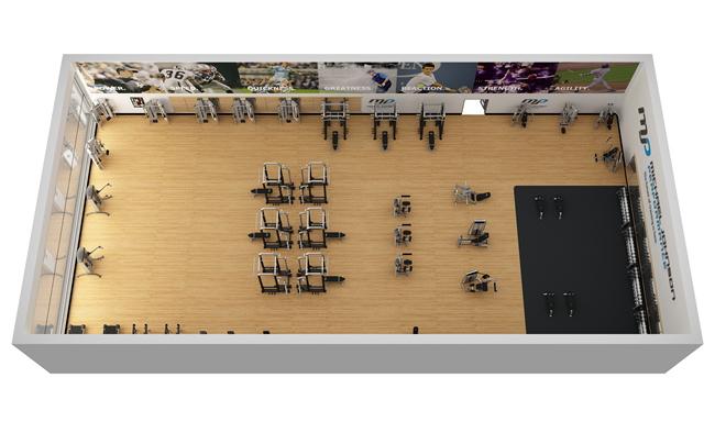 Sample fitness facility cybex