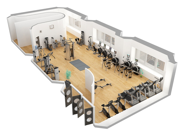 Sample Fitness Facility 30 Cybex