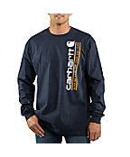 Men's Graphic Vertical Logo Long-Sleeve T-Shirt