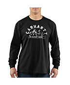 Men�s Graphic Mountain Long-Sleeve T-Shirt