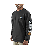 Men's Impact Logo Long-Sleeve Pocket T-Shirt