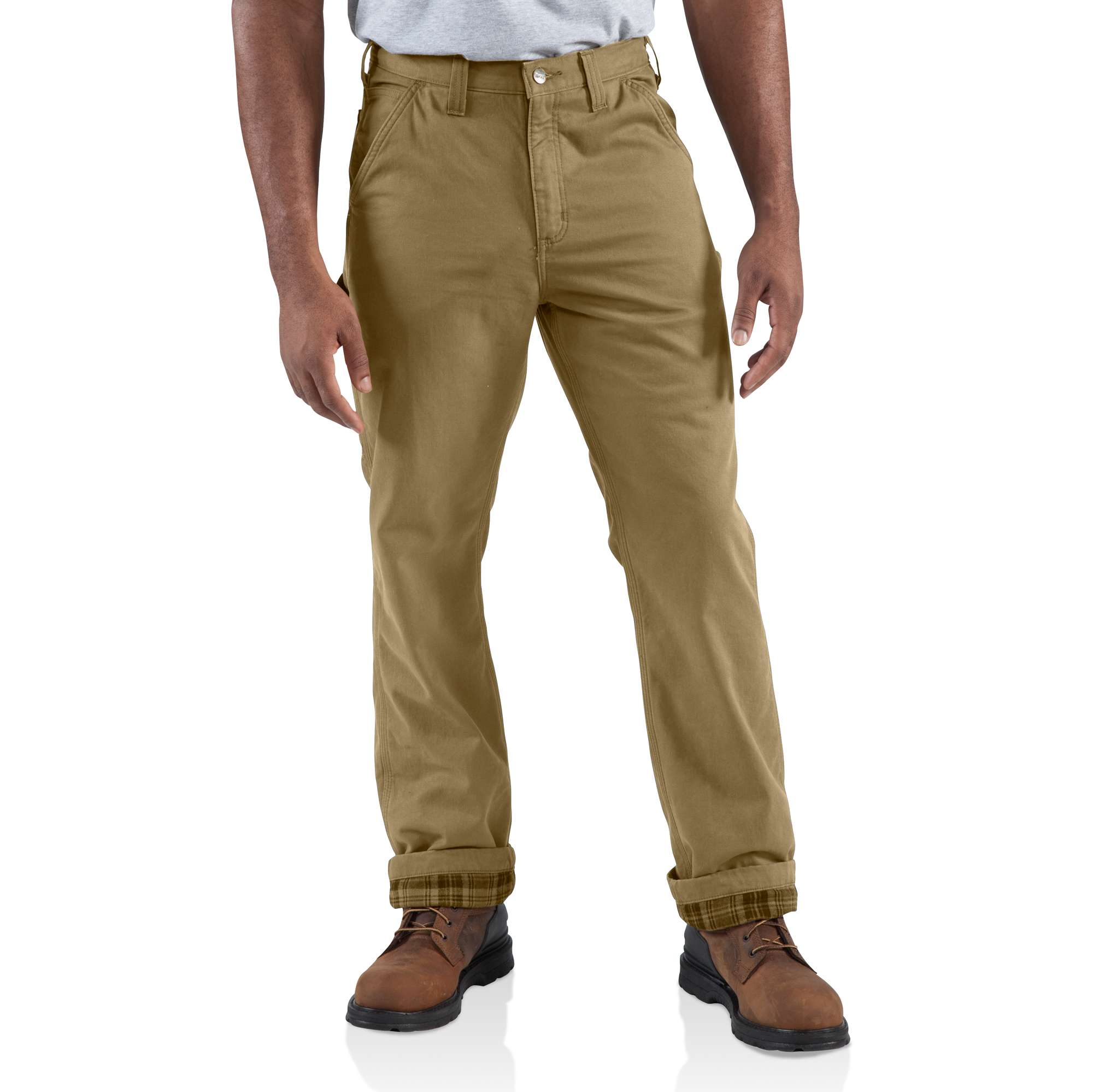 Carhartt Washed-twill Dungaree/flannel Lined Pant