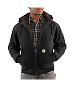 Men's Brushed-Fleece Sweatshirt/Sherpa-Lined