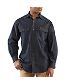 Men�s Washed Denim Work Shirt