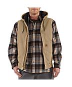 Men's Sandstone Hooded Active Vest