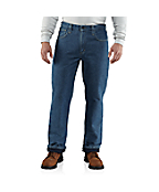Men's Flame-Resistant Lined Utility Denim Jean-Relaxed Fit