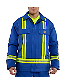 Men's Flame-Resistant Duck Traditional Coat with Reflective Striping/Quilt-Lined