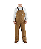 Men's Flame-Resistant Canvas Bib Overall/Unlined