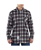 Men's Flame-Resistant Work-Dry® Plaid Twill Shirt
