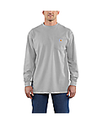 Men's Flame-Resistant Carhartt Force® Cotton Long-Sleeve T-Shirt