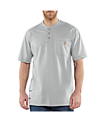 Men's Flame-Resistant Carhartt Force® Cotton Short-Sleeve Henley