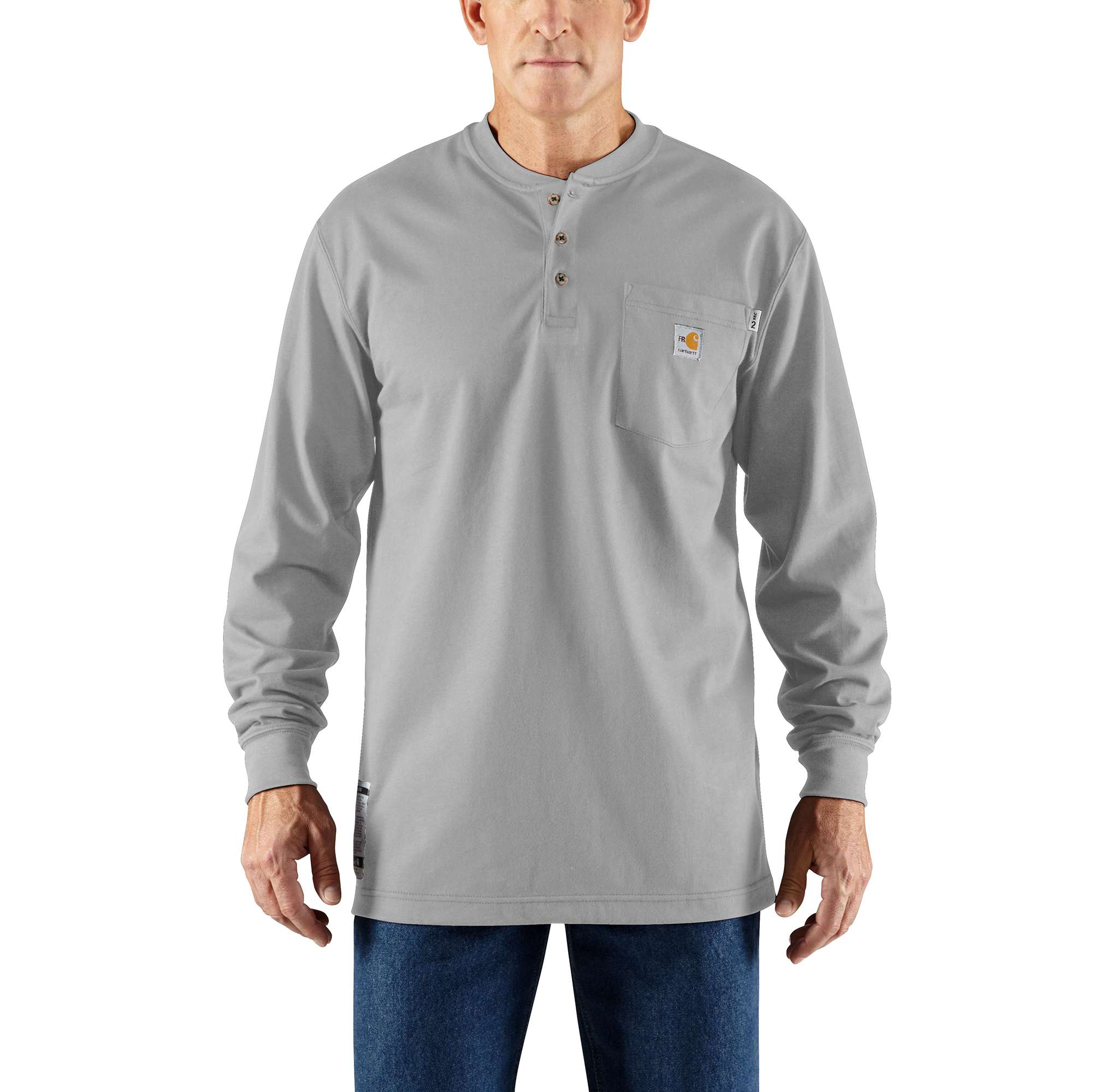 Carhartt Flame-Resistant Carhartt Force Cotton Long-Sleeve Henley