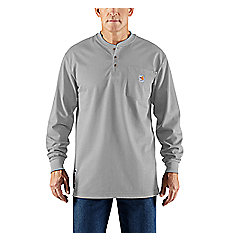 Men's Flame-Resistant Carhartt Force® Cotton Long-Sleeve Henley