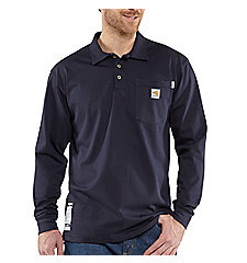 Men's Flame-Resistant Carhartt Force® Cotton Long-Sleeve Polo